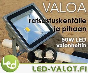 Valonheittimet ratsastuskentälle